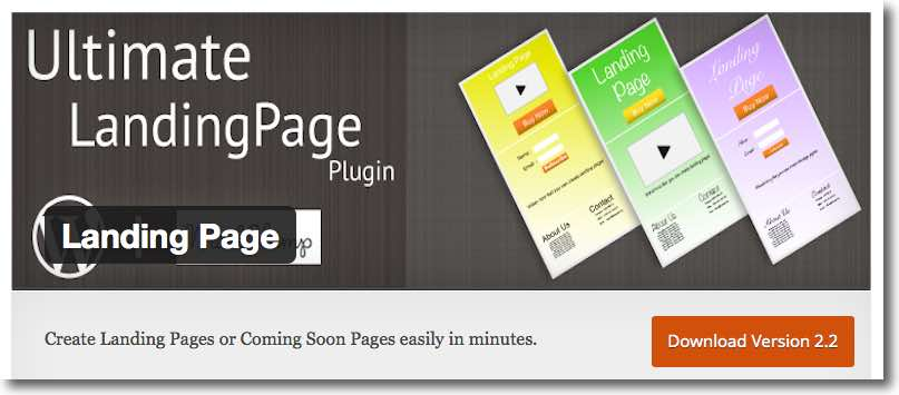 Best free landing page plugin - Option 1