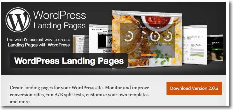 Best free landing page plugins Option 2