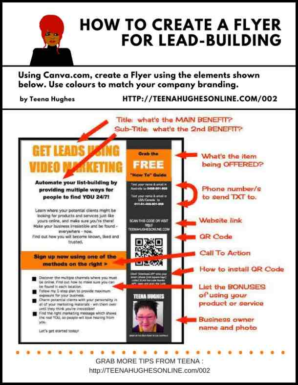 How to create a flyer for lead-building