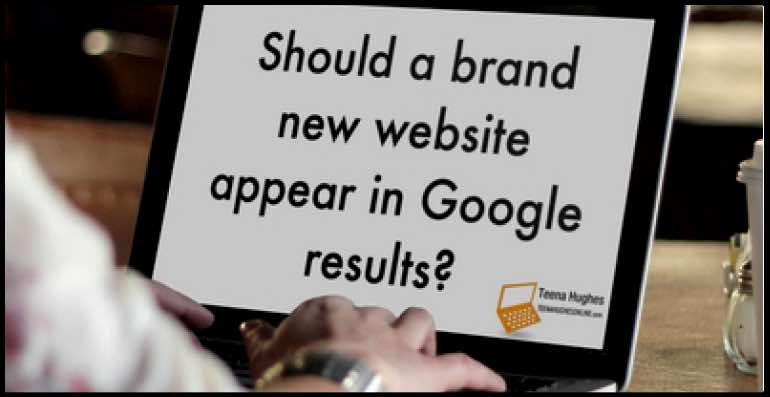 Should a brand new website appear in Google results?