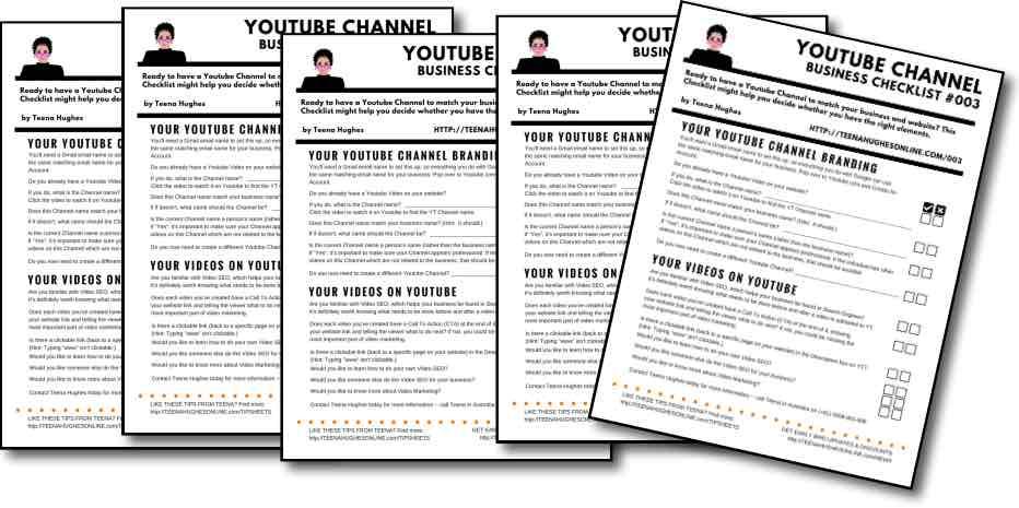 Youtube Channel Business Checklist - 5 pix